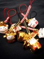 Gold Manekineko mobile strap